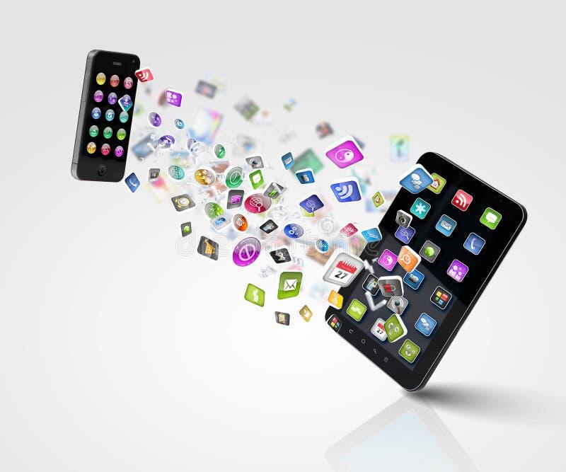 Moderne Kommunikationstechnologie stockfoto