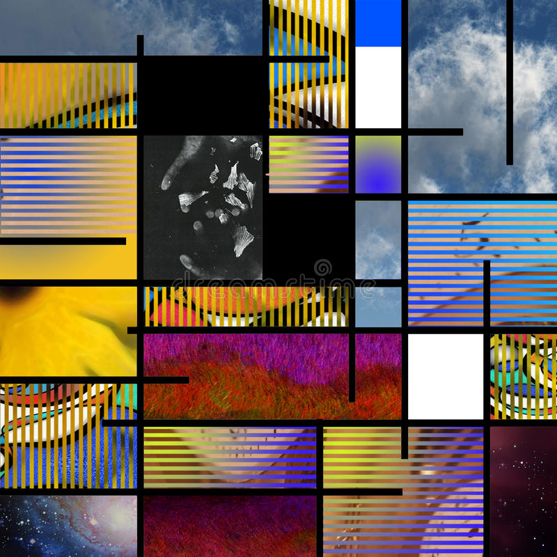 Moderne Kunst gründete Auszug vektor abbildung