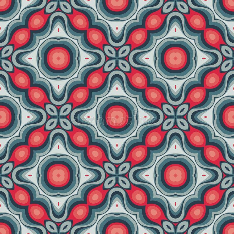 Moderne kunst vectorachtergrond Abstract geometrisch naadloos patroon Decoratief ornament in retro uitstekende ontwerpstijl Atoom vector illustratie
