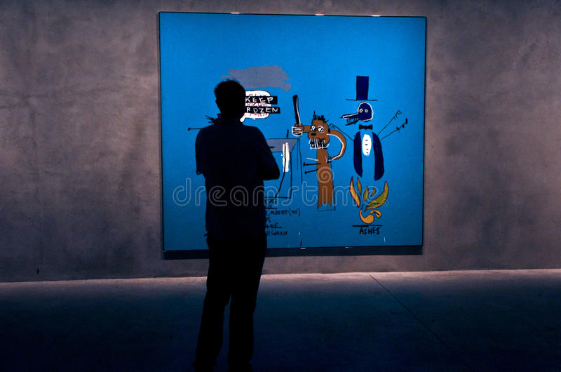 Moderne Kunstexposicion stock fotografie