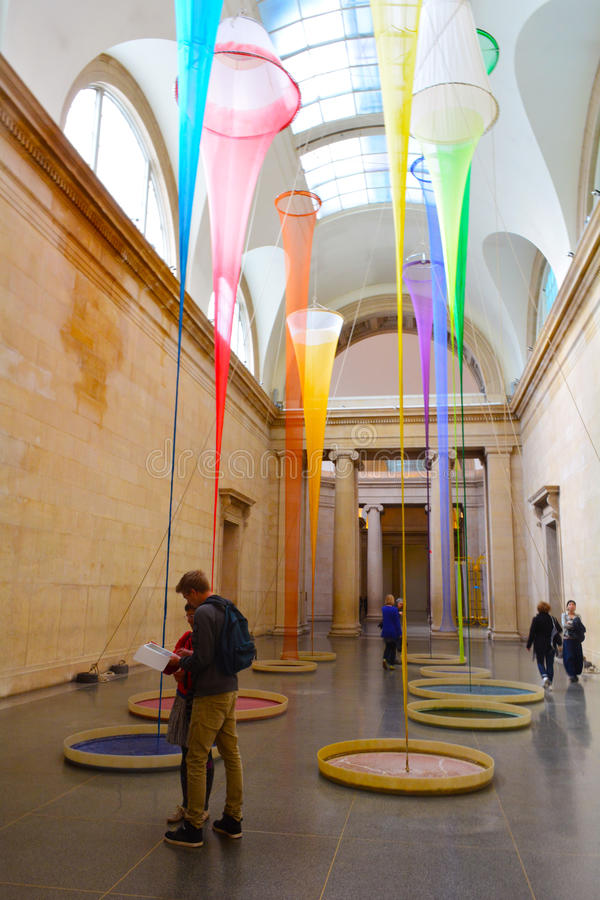 Moderne Kunsttentoonstelling in Tate Britain, Londen, het UK royalty-vrije stock foto
