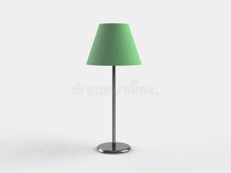 Moderne Lampe Abbildung 3d auf weißem Hintergrund vektor abbildung