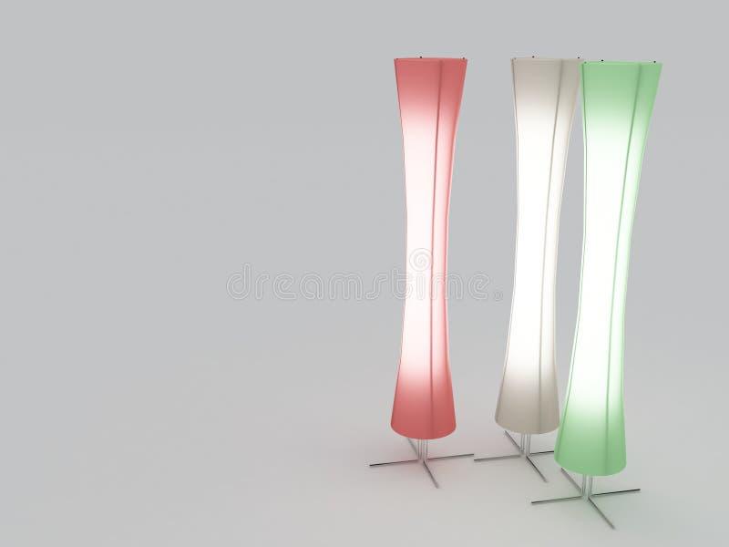 Moderne Lampen royalty-vrije illustratie