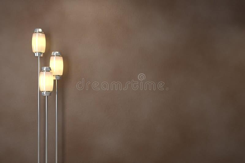 Moderne lampen. Zachte verlichting stock foto