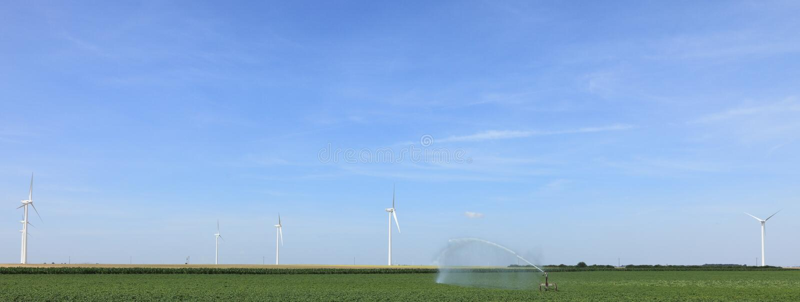 Moderne landbouw royalty-vrije stock afbeelding
