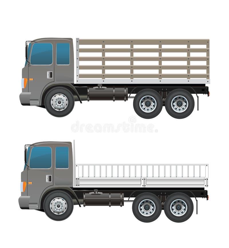 Moderne Landbouwbedrijfvrachtwagen of legervrachtwagen stock illustratie