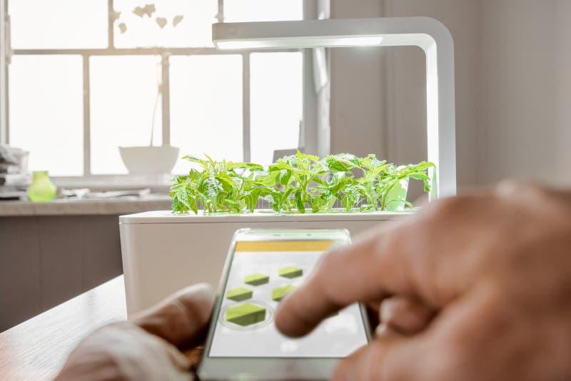 Moderne landbouwtechnologie stock afbeelding