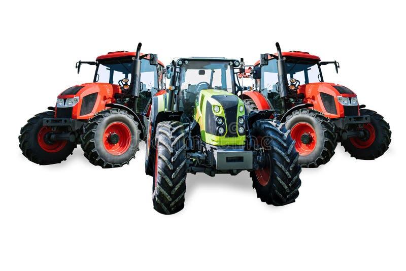 Moderne landwirtschaftliche Traktoren stockfoto