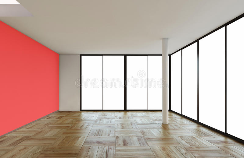 Moderne lege ruimte stock illustratie