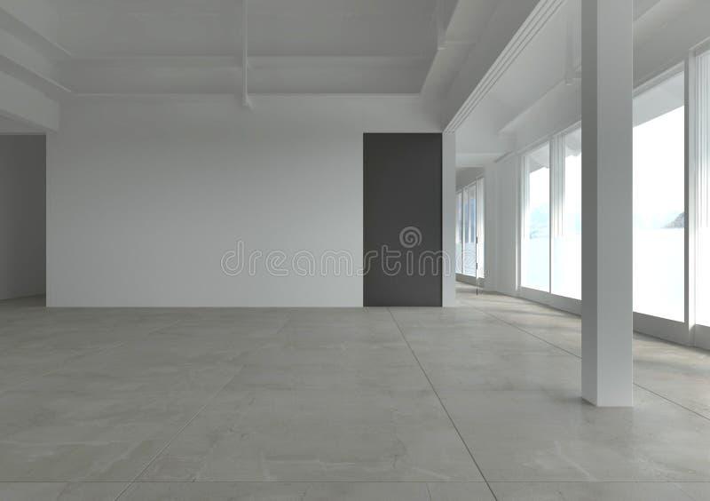 Moderne Lege Zaal | Architectuurbinnenland royalty-vrije illustratie