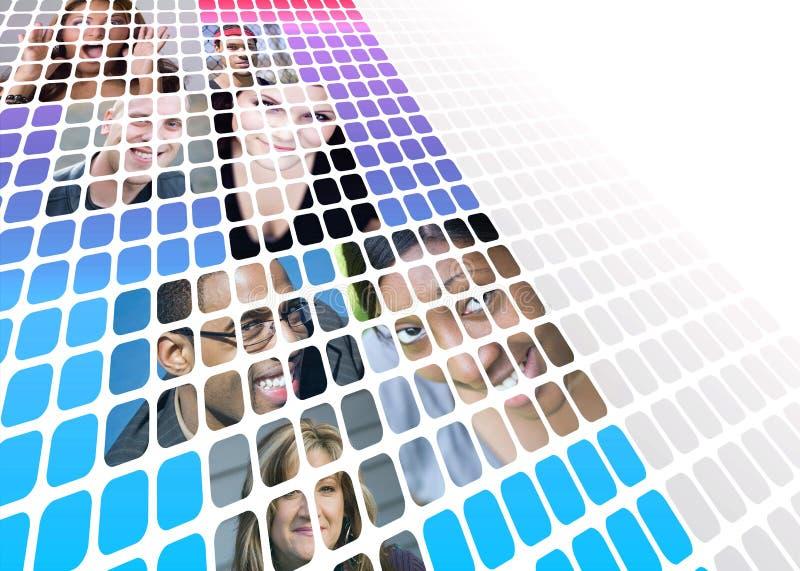 Moderne Leute-Montage stockfoto