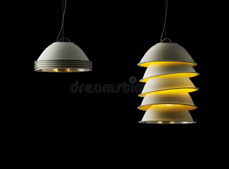 Moderne lichten royalty-vrije stock afbeelding