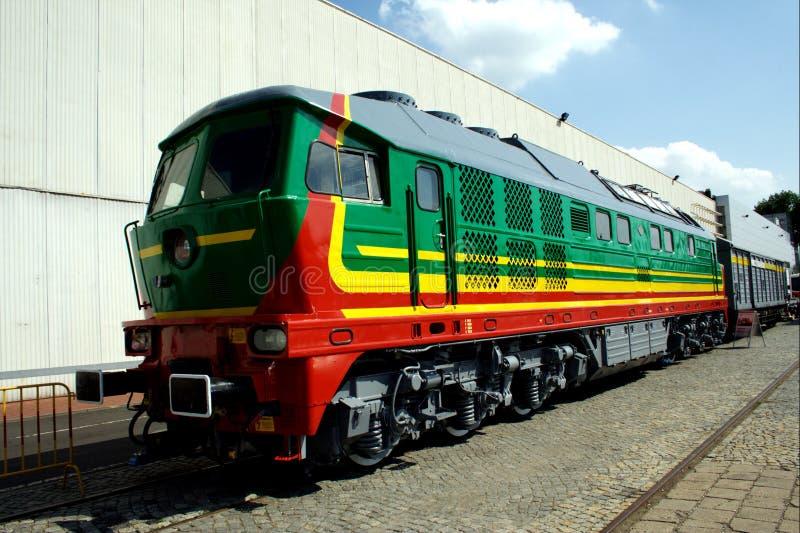 Moderne locomotief royalty-vrije stock foto