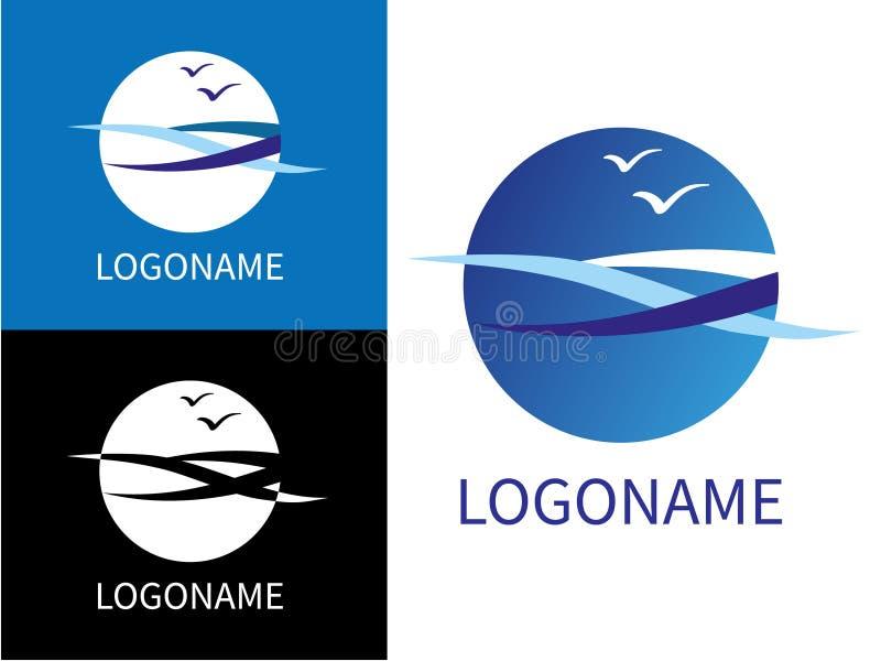 Moderne Logos Des Designs See Vektor Abbildung - Illustration von ...