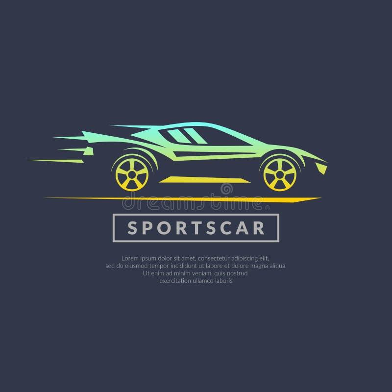 Moderne Logosportautos stock abbildung