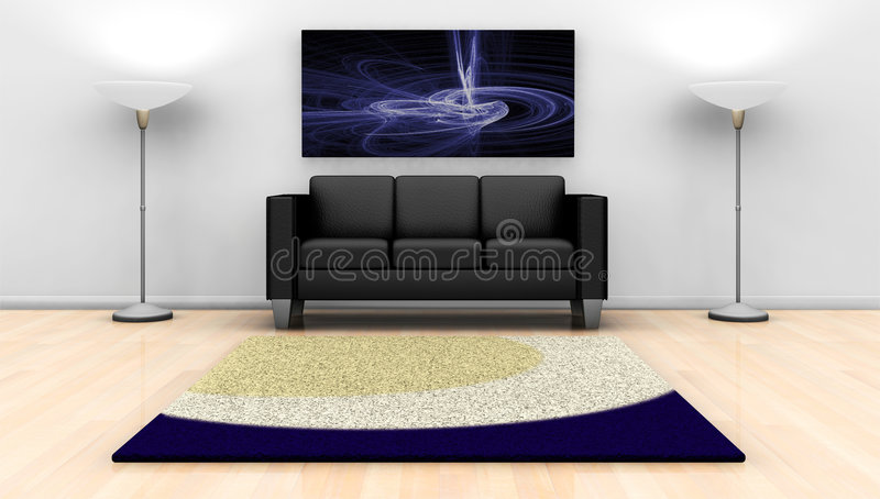 Moderne loung3 stock illustratie