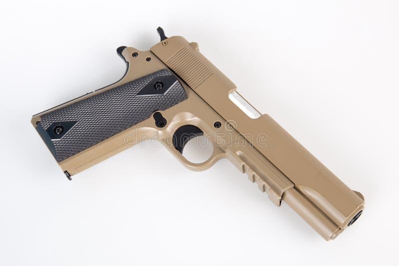 Moderne Luftgewehrpistole lokalisiert lizenzfreie stockbilder