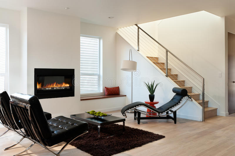 Moderne Luxewoonkamer stock afbeelding
