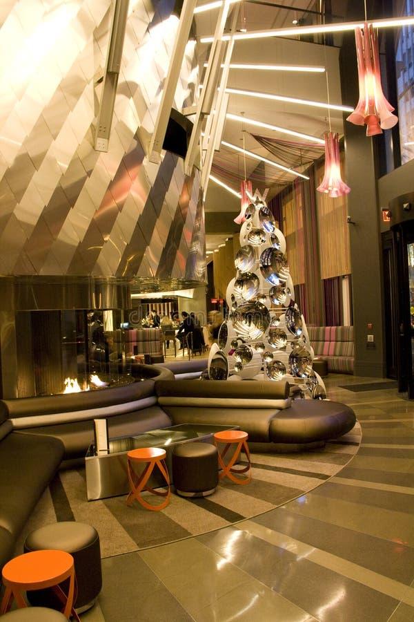 Moderne Luxushotellobby stockbild