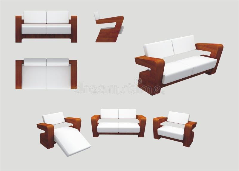 Moderne Möbel moderne möbel für entspannung stock abbildung illustration