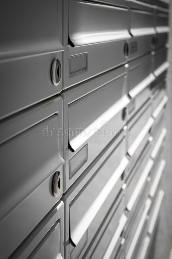 Moderne Mailboxes lizenzfreie stockfotografie