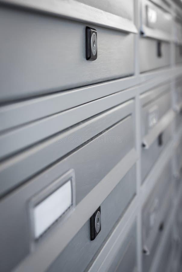 Moderne Mailboxes stockbild