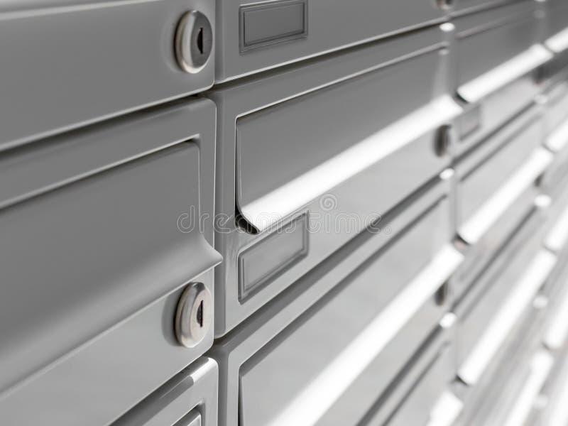 Moderne Mailboxes stockfotos