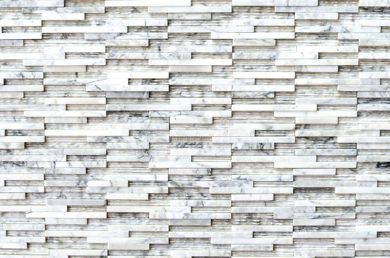 Moderne marmeren de muur van de baksteensteen textuur als achtergrond stock fotografie