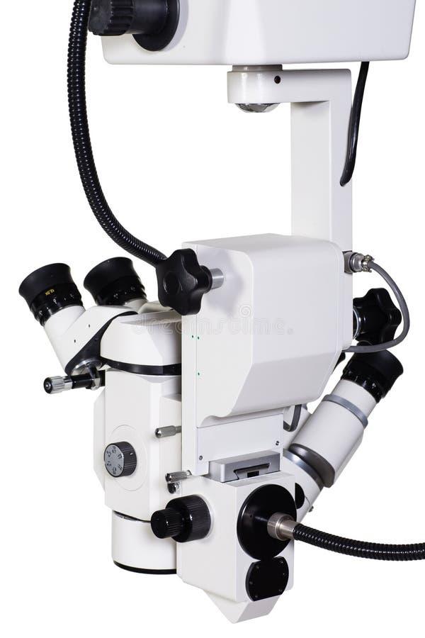 Moderne medische apparatuur - draagbare geïsoleerde verrichtings chirurgische microscoop royalty-vrije stock foto