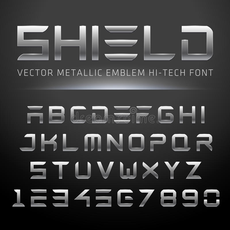 Moderne Metaalhi-tech Doopvont vector illustratie