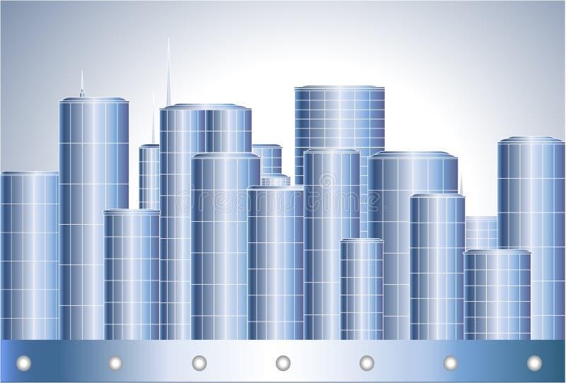 Moderne metallische Stadt vektor abbildung