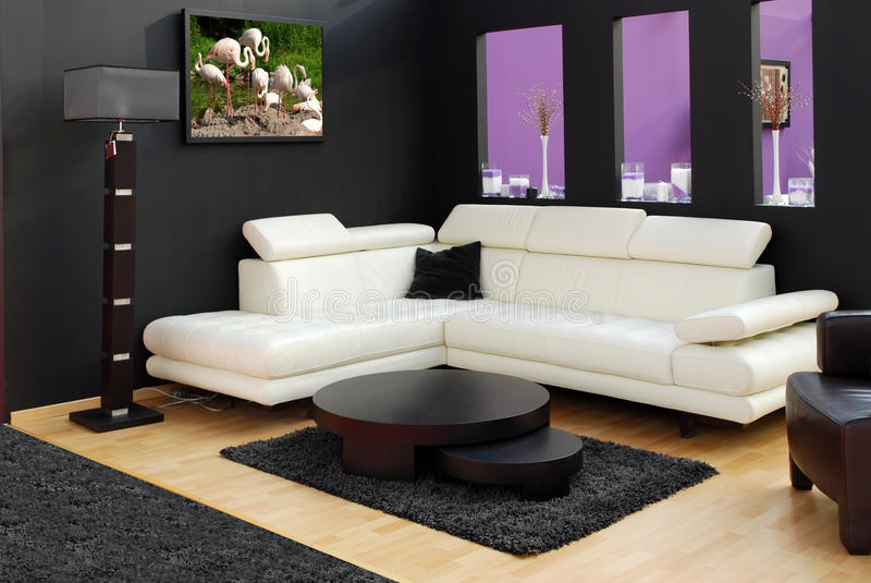 Moderne meubilair en lamp royalty-vrije stock fotografie