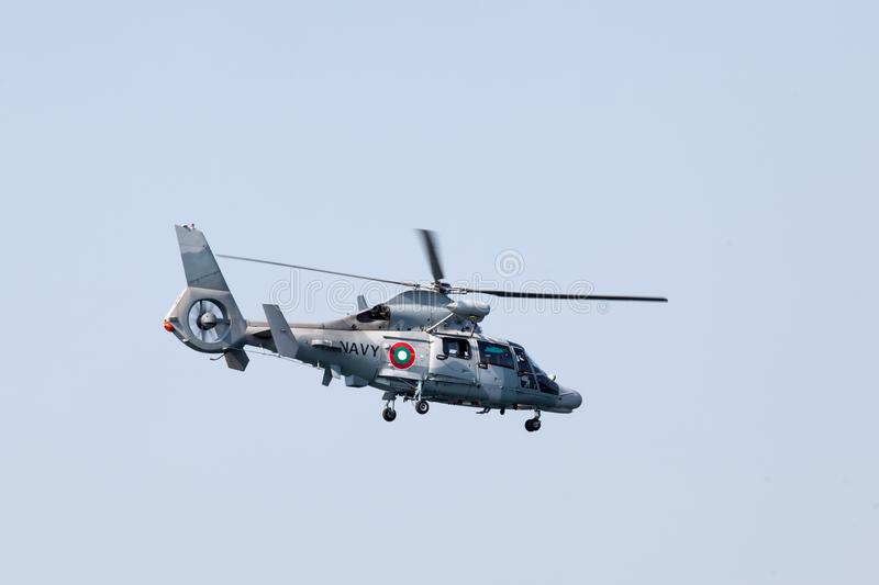 Moderne militaire helikopter stock foto's