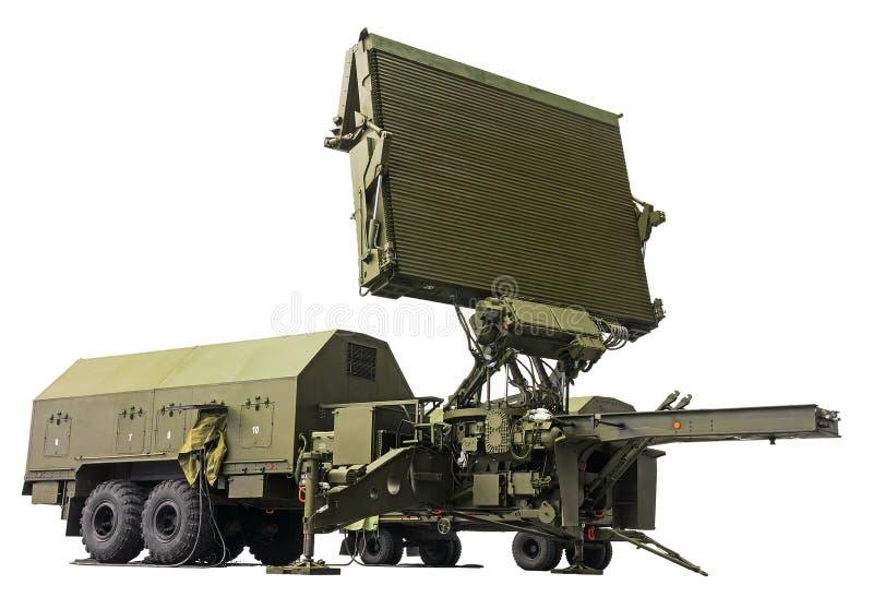 Moderne militaire radarpost stock afbeeldingen