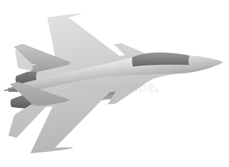 Moderne Militaire Vechter Jet Aircraft royalty-vrije illustratie