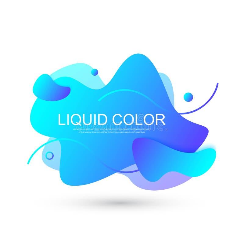 Moderne minimale vloeibare gradiëntplonsen met dynamische kleuren Vectorontwerp voor dekking, groetkaart, affiche, vliegers vector illustratie