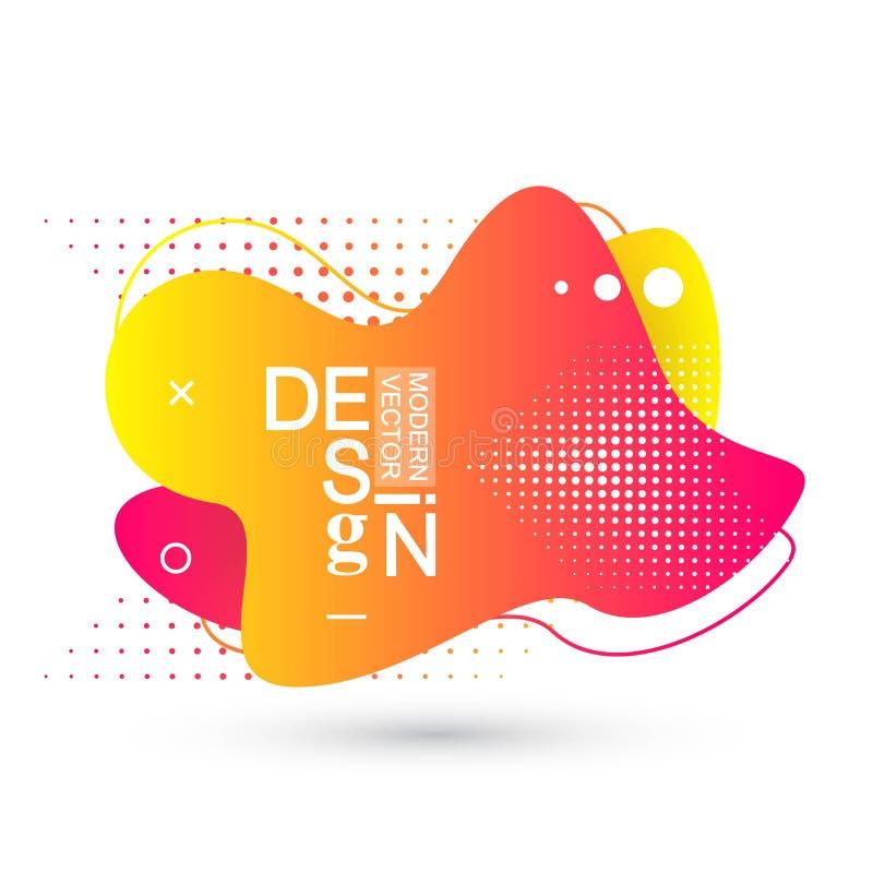 Moderne minimale vloeibare gradiëntplonsen met dynamische kleuren Vectorontwerp voor dekking, groetkaart, affiche, vliegers royalty-vrije illustratie