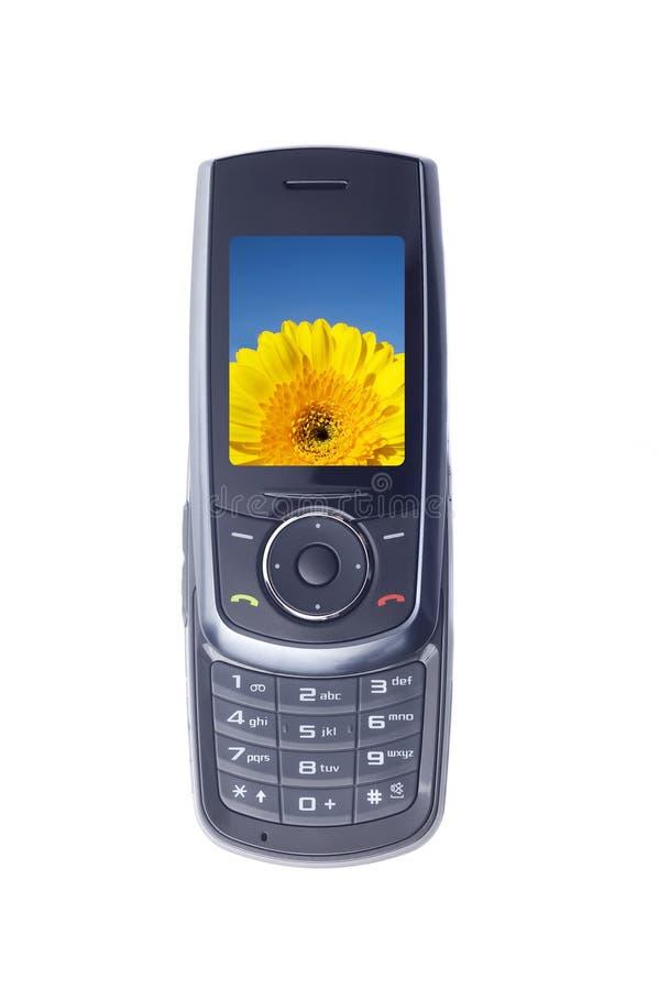 Moderne mobiele geïsoleerdeA telefoon royalty-vrije stock afbeelding