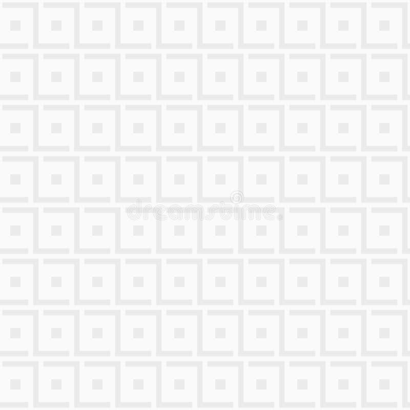 moderne modieuze textuur Het herhalen van geometrische tegels met vierkanten en gewaagde rechthoekige elementen royalty-vrije illustratie