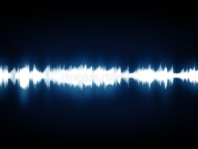 Moderne Musik bewegt Diagramm wellenartig vektor abbildung