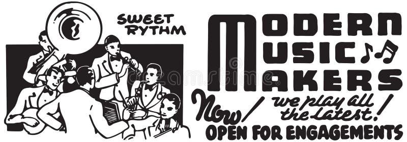 Moderne Musik-Hersteller stock abbildung