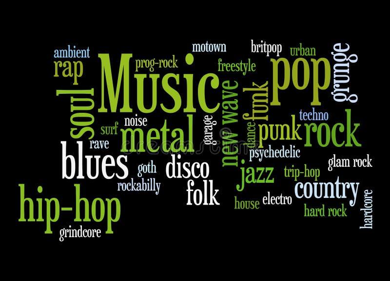 Moderne muziek royalty-vrije illustratie