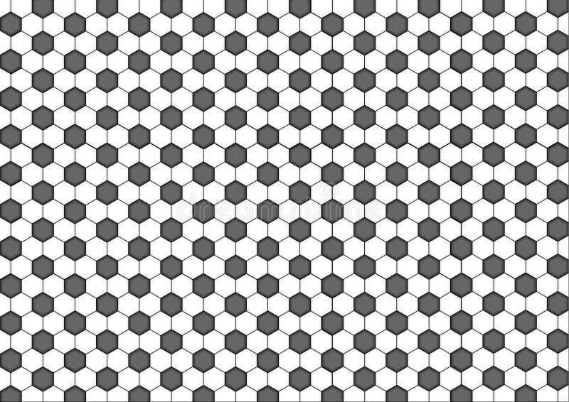 Moderne naadloze hexagon, zwart-witte de honingraat abstracte geometrische achtergrond van het meetkundepatroon stock illustratie