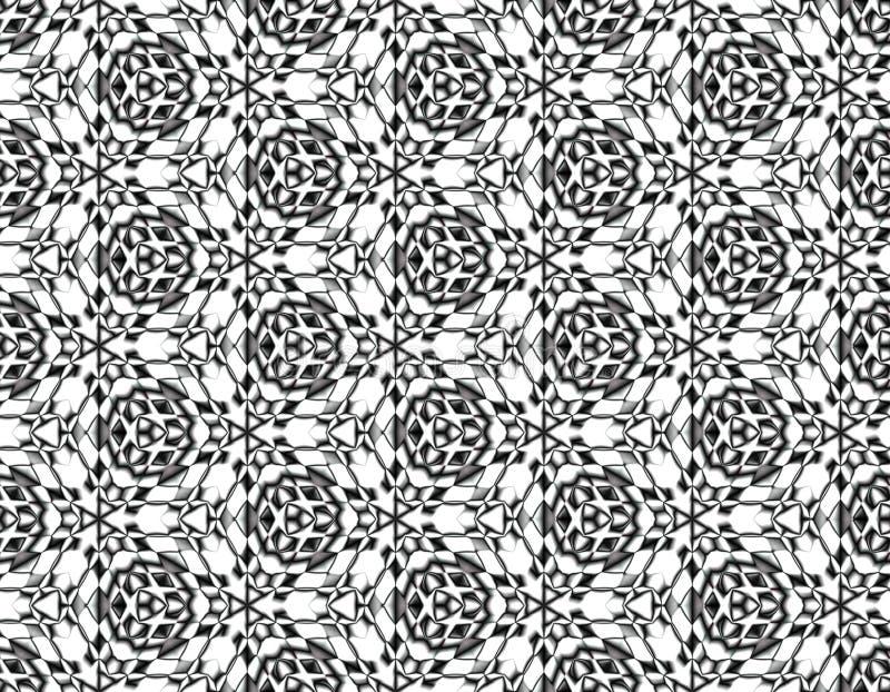 Moderne naadloze illusie in een modieus ontwerp stock illustratie