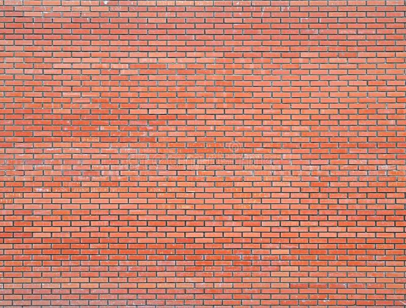 Moderne nieuwe rode bakstenen muur, metselwerkachtergrond, textuur, geklets stock afbeelding