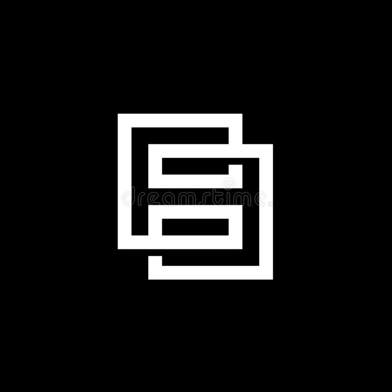 Moderne Nr. 8 oder acht Logo Design, Digitaltechnik-Art lizenzfreie abbildung