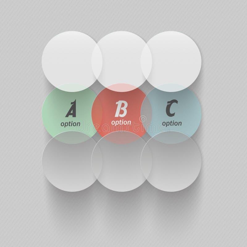 Moderne ontwerp infographic zakenkringen vector illustratie