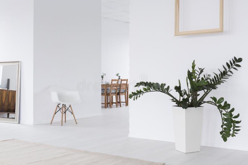 Moderne ontwerp witte woonkamer royalty-vrije stock foto