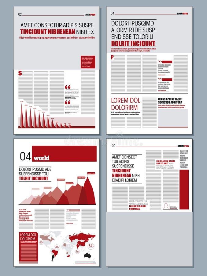 Moderne ontwerpkrant vector illustratie