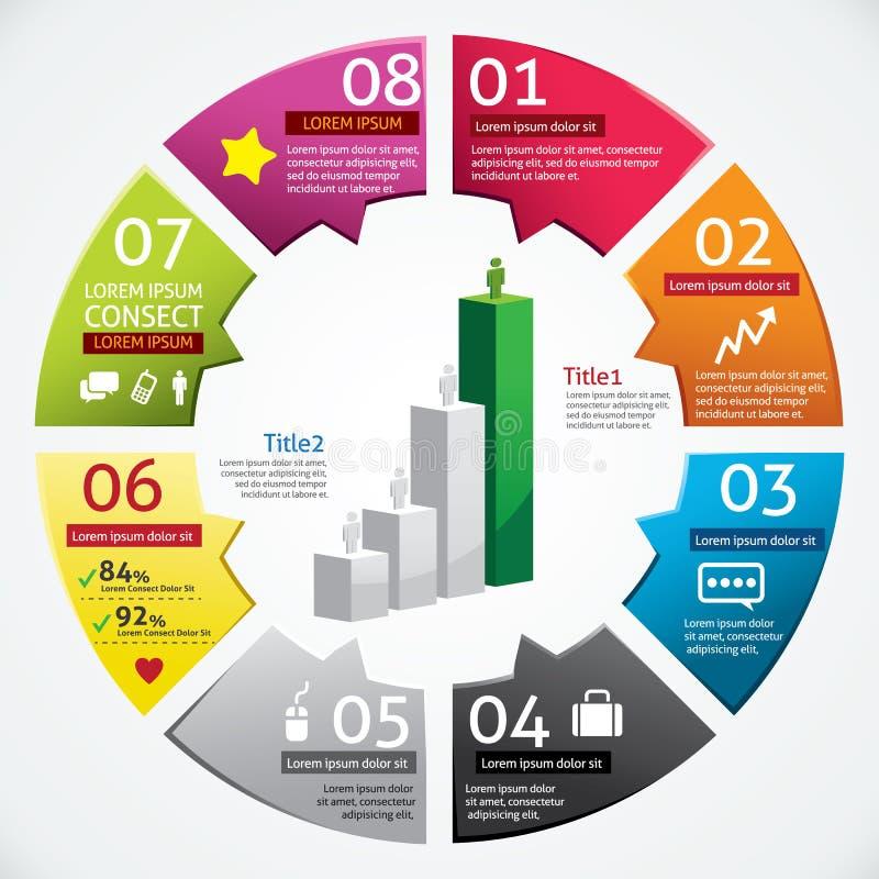 Moderne Ontwerpzaken Infographics stock illustratie